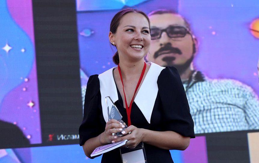 Екатерина Макарова вручении премии 'Лицей' на Красной площади. Фото: Сергей Михеев