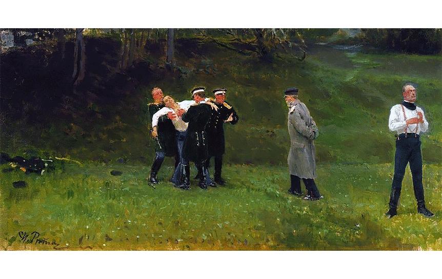 Илья Репин. Дуэль (фрагмент). 1897 / Wikipedia.org