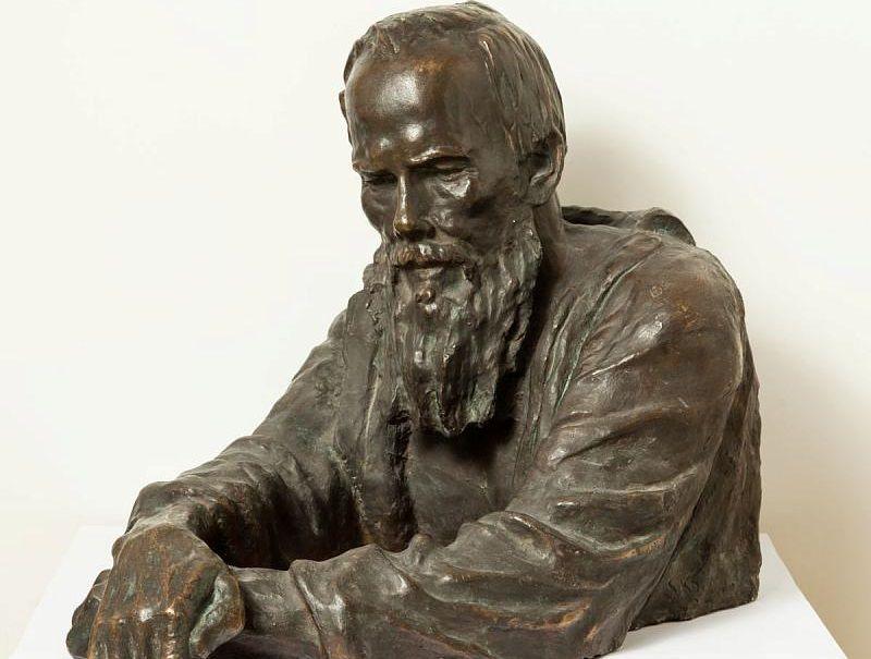 Сергей Коненков. Ф.М. Достоевский. 1933 Бронза. 55 x 52 x 75 / rusmuseum.ru